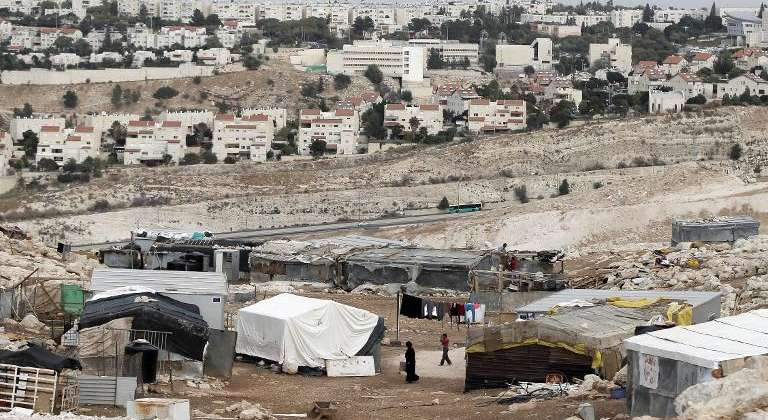 Bedouin Village near illegal Israeli settlement scheduled for demolition. (Photo i24news)