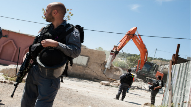 515 Palestinian-owned structures WERE demolished in 2014, according to the UN Office for the Coordination of Humanitarian Affairs (OCHA).