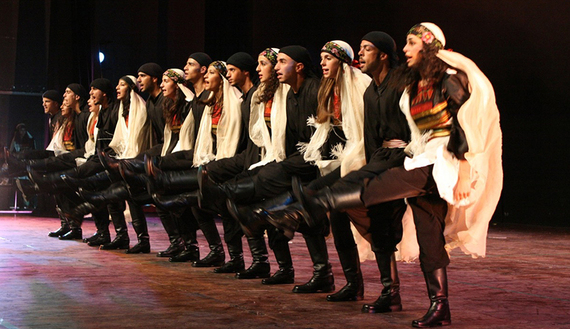 El-Funoun Dance Troupe performs the production