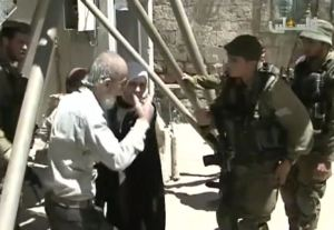 IDF soldiers invade home belonging to Beit Ummar resident Suleiman Ali Mohammad Abu Ayyash. Still Image From Palestine TV Video Report