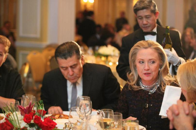 "Hillary Clinton wrote a letter to Haim Saban, the biggest giver on the Democratic side, saying that she will be speaking out publicly against BDS, the boycott, divestment and sanctions campaign aimed at Israel, and will work ""across party lines"" to oppose it. -"