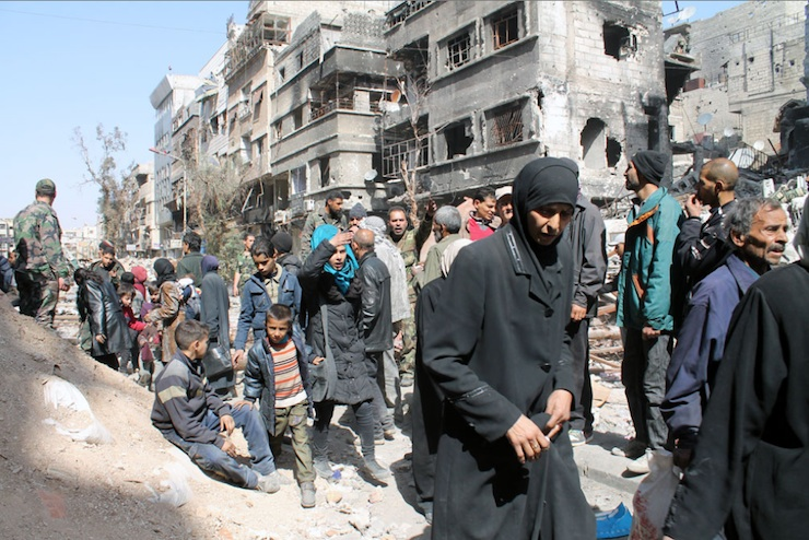 Yarmouk Refugees Waiting for Humanitarian Aid / UNRWA