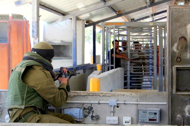 Inside Hawara checkpoint, in the occupied West Bank, Palestine. Photo by Wikimedia Commons.