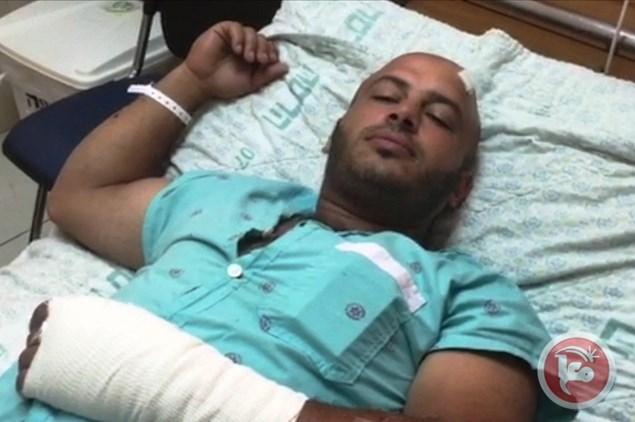 Loav Bakri in hospital. Image by Ma'an.