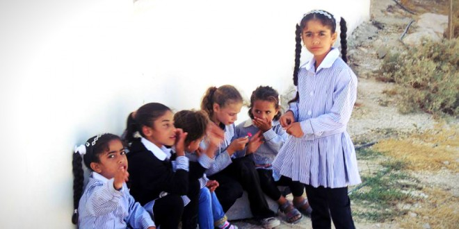 Students of the Susya Elementary School (PNN photo-24 August 2015)