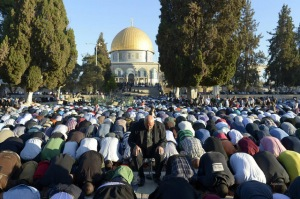 MEM File photo of muslims praying at Al-Aqsa mosque compound