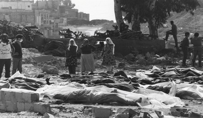 "Israeli regime committed war crimes in Deir Yassin by ethnic cleansing of a whole population. The massacre of the Palestinian small town of Deir Yassin in 9th of April, 1948. The ""democracy"" on which the State of Israel is built."