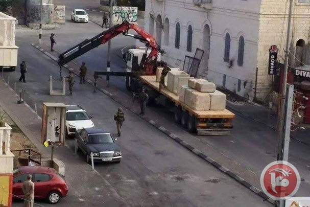 """""""O LITTLE TOWN OF BETHLEHEM. . ."""" Israeli forces close a main road in Bethlehem where near-daily clashes have taken place since Oct .1. (MaanImages)"""
