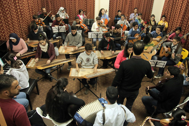 The Gaza Music School is the only institution in the territory dedicated to the study of the art. Photo: Mousa Tawfiq. https://electronicintifada.net/content/making-music-under-siege/14946