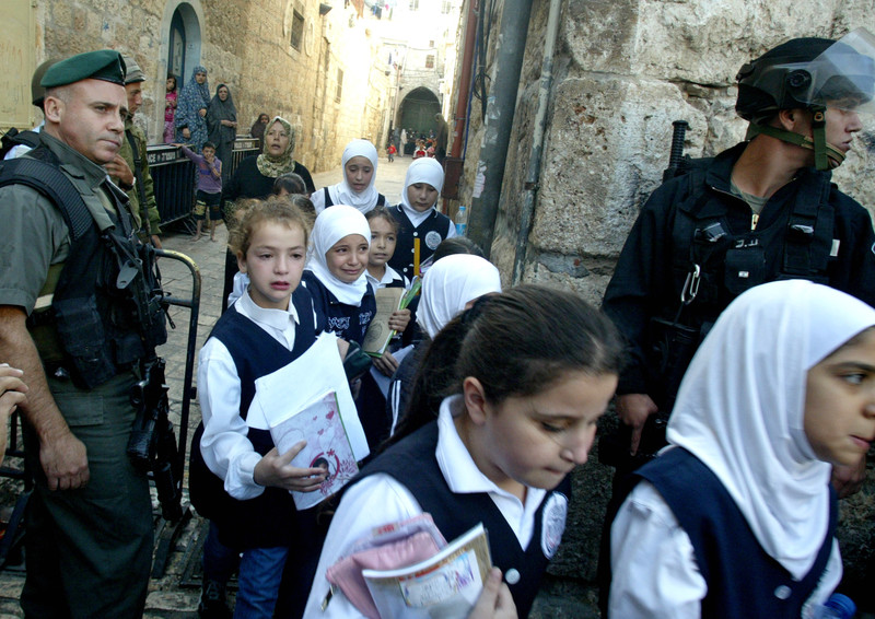 Israeli policies violate Palestinians' most basic right to education. (Mahfouz Abu Turk APA images.)
