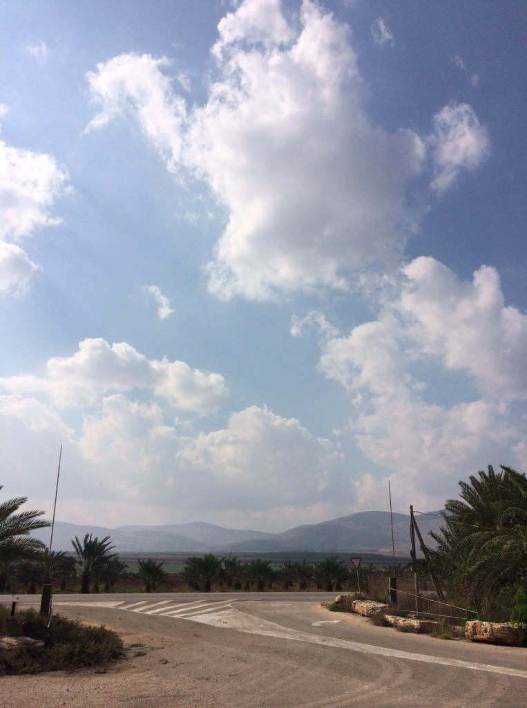 The sky near the Jordan River, Occupied West Bank, November 10, 2015. Photo by Harold Knight.