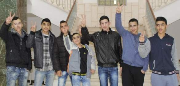 7 Jerusalemite children that were sentenced with imprisonment. (Photo: Silwanic.net)