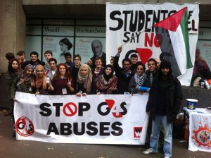 November 2013 – King's College London and Southampton University opt not to award G4S major security contracts following vigorous student campaigns. (Photo: BDS Campaign)