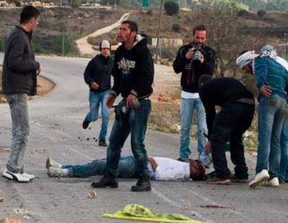 "Israeli Settler Stabs A Palestinian Near Salfit, Monday October 26, 2015. Reporting Israel labels as ""incitement."" (Photo: Palestine Today― Falastin al-Yawm)"
