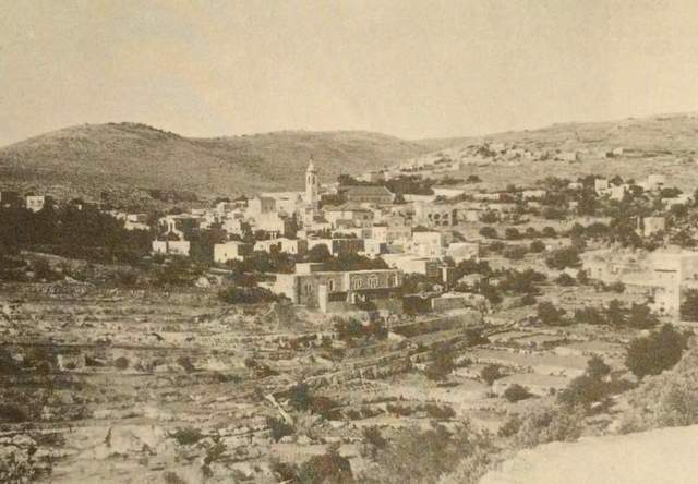 View of Ein Karem village, West Jerusalem, pre-1947. From BEFORE THEIR DIASPORA: A PHOTOGRAPHIC HISTORY OF THE PALESTINIANS 1876-1948. Commentary by Walid Khalidi. Washington, D.C. Institute for Palestine Studies, 2010.