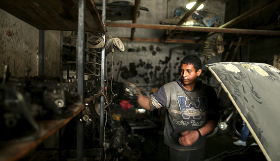 The Wider Image: Child labour in Gaza