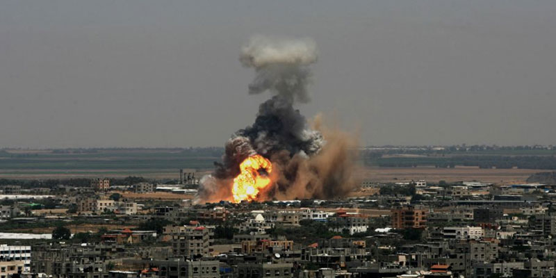 Israel-Bombs-Gaza-Strip-In-Response-To-Palestinian-Rocket-Fire-Hamasindialivetoday