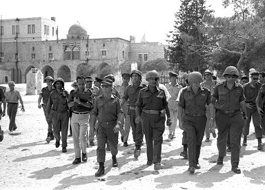 IDF leadership enters Jerusalem, 1967
